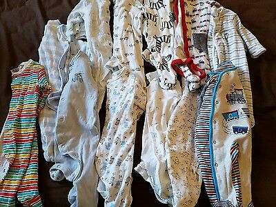 Boys 0 _ 3 months babygrows and vests