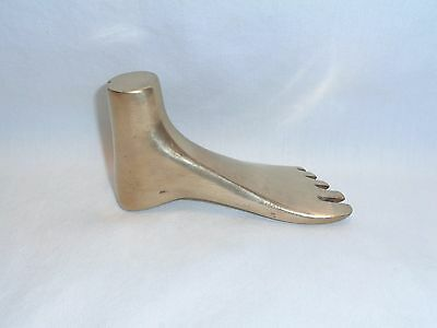 Vtg Mid century Modern Carl Aubock Brass Foot Sculpture 50s Paperweight Object