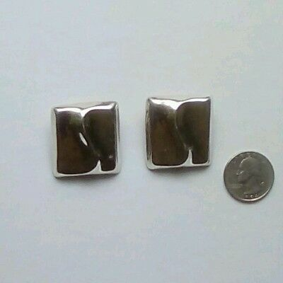 "Vintage Taxco signed ""Mexico TH-49 925""  sterling Silver Earrings #5"