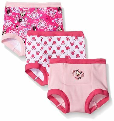 Disney Baby-Girls' Minnie 3 Pack Training Pants Underwear Sizes 2T, 3T