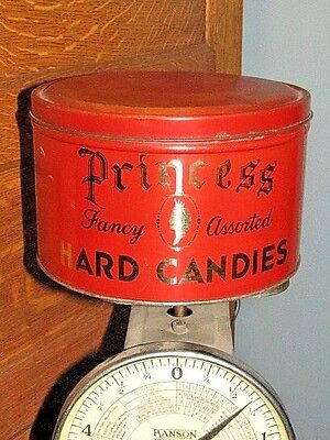 Vintage Red Candy Tin Princess
