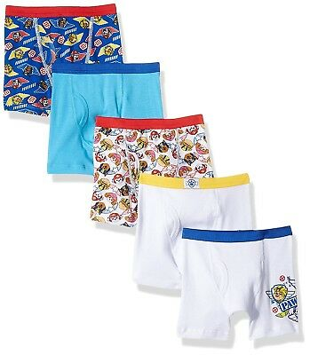 Nickelodeon Boys' Paw Patrol 5 Pack Boxer Brief Underwear Toddler Boys