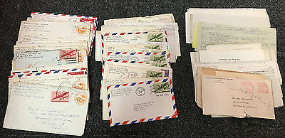 Large Lot of 50 World War II Letters Home From Husband 1st Marine Division & Son