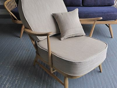 Cushions & Covers Only. Ercol 203/252 Chair. Beige Herring Bone + free scatter.