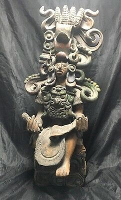 Vintage Clay Earthenware Sculpture South American? Aztec ?