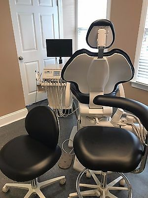Two Adec 511 Dental chairs & stool sets