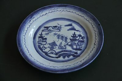 Antique Large Chinese Plate - Blue and White