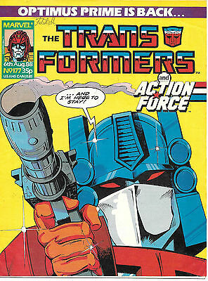 Transformers #177 (Marvel UK,  full colour throughout 28 pages) high grade