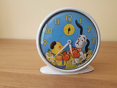 """Vintage """"Sooty and Sweep"""" Smiths Childs Alarm Picture Clock from 1974 (Working)"""