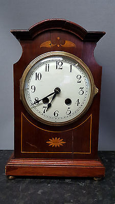 Vintage 8 day Solid Wooden Bracket Clock with Strike