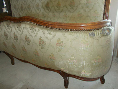 Vintage French Demi Corbeille Double Bed