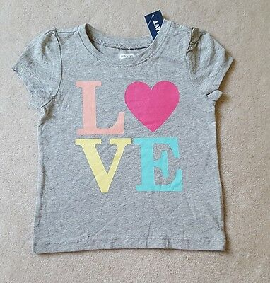 b379345b OLD NAVY Childrens Girls LOVE/HEART Top 18-24 months NWT. Great Christmas