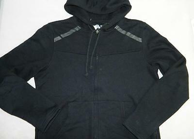 American Rag Men's Fleece Hooded Jacket Black Cotton NWT Size M