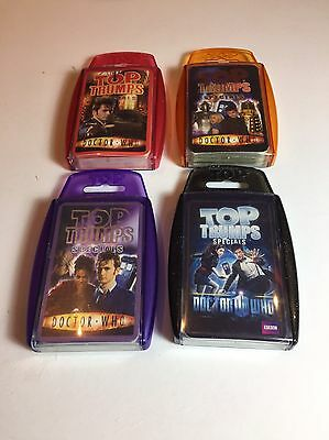 4 x DOCTOR WHO TOP TRUMPS Lot SET Bundle SPECIALS Dr