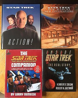 4 x STAR TREK BOOKS Lot HARDBACKS Next Generation BUNDLE
