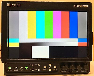 "Marshall V-LCD70XP-3GSDI-PM 7"" On-Camera LCD Field Monitor"