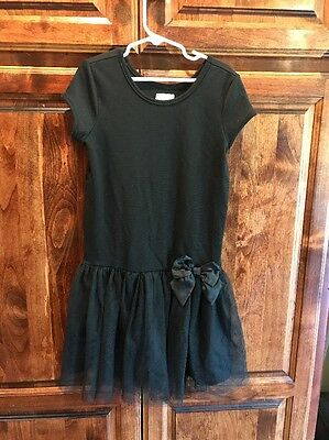 Children's Place Girls Dress Size 7/8 Tulle Bow Black