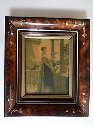 Antique Eastlake Shadow Box Carved Wood Picture Frame