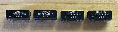 Lot of 4 Hamlin HE722A1210 DPST Reed Relays, New/NOS