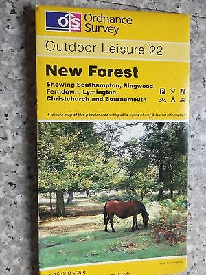 Ordnance Survey Outdoor Leisure Map New Forest..