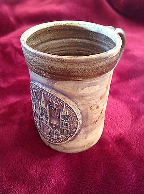 Canterberry Stonware tankard. Canterberry cathedral
