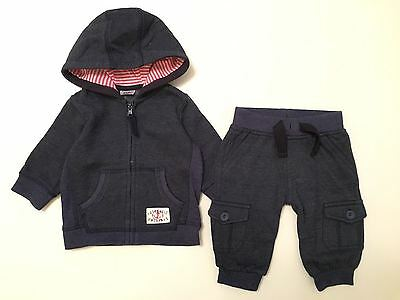 F&f Baby Boys 2 Piece Outfit Set - Trousers & Hooded Top - 0-3 Months (Next Day)