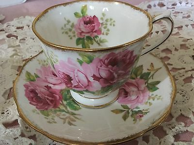 Royal Albert Bone China  Cup And Saucer England    American Beauty