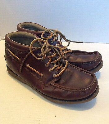 Men's Sperry Brown Leather Chukka Boat Ankle Boots, Size 13M