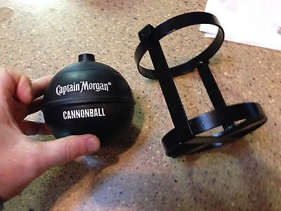 CAPTAIN MORGAN RUM CANNONBALL PLASTIC DRINK CUP with Stand