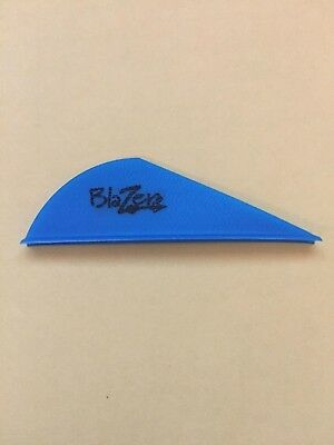 "50 NEW Bohning Blazer Vanes ""Satin Blue"" (2 inch) Archery, Arrow, BEST DEAL"