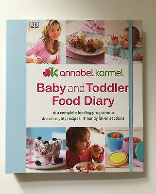 Annabel Karmel Toddler And Baby Food Diary Recipe Book. RRP £14.99 Brand new