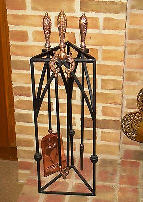 RIGEWAY 1900 Antique Fire Place Tool Set