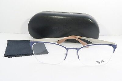 4957e8fcd4 RAY-BAN BLUE GLASSES New with case RB 6345 2918 52mm -  55.35