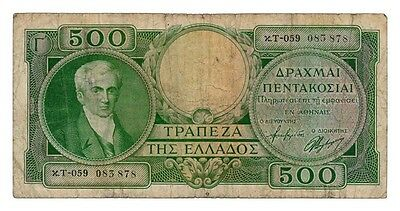 GREECE banknote 500 DRACHMAI 1945.