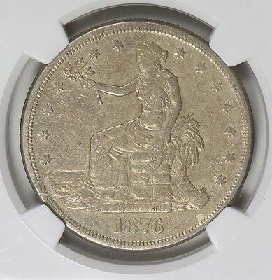 1876 S Trade Dollar $1 ~ NGC XF ~ I See No Scratches ~