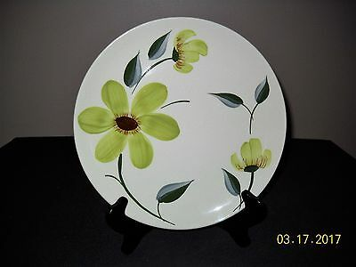 "Blue Ridge Green Eyes 9 1/2"" Dinner  Plate Skyline Shape"
