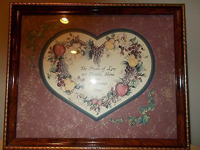 """Home Interior Homco, FRAMED PICTURE: """"FRUIT OF LOVE..."""" By Joy Kelsey"""