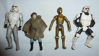 "Bundle of 4x STAR WARS Return of the Jedi 3.75"" Action Figures - POTF 2, Legacy"