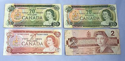 $44.00 Canadian Currency Money Lot (Face Value)