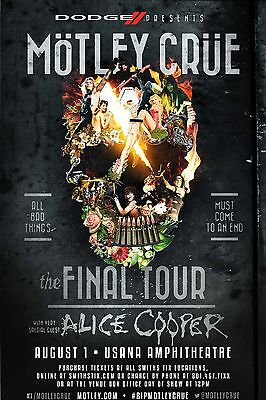 MOTLEY CRUE POSTER a - VARIOUS SIZES - WATERPROOF LAMINATED OPTION