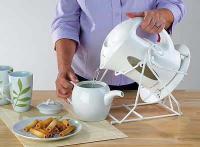 Cordless Kettle Tipper Tipping Stand Elderly Disabled Arthritis Aid Safety, NEW