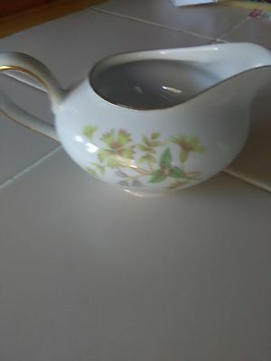 KPM Krister China Creamer Abstract Leaves and flowers Gold Trim Germany