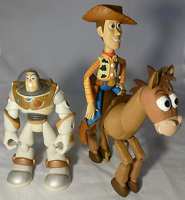 "TOY STORY Bundle of 3x Articulated 6"" Action Figures - Disney Pixar Hasbro 1996"