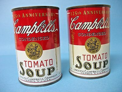 Two Campbell's Tomato Soup Can Banks