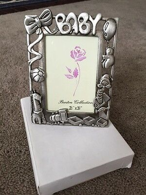 New  Metal Baby Picture Frame   2 1/2 X 3 1/2