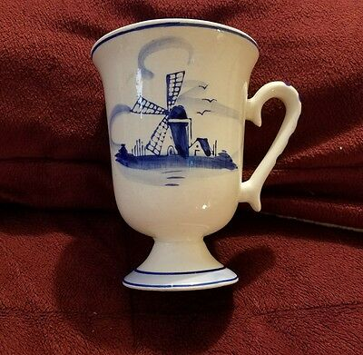 Delft Blue hand painted made Holland, Coffee Mug, Windmill