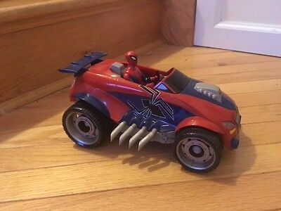 Spiderman toy car with figure