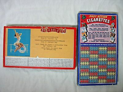 Two Unused Punch Boards, Pin-Up & Cigarette - 5 Cents