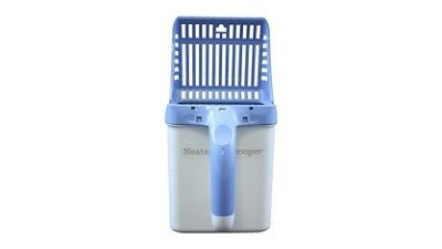 Neater Pet Litter Scooper with Attached Waste Bin & 15 Scented Bags - Blue
