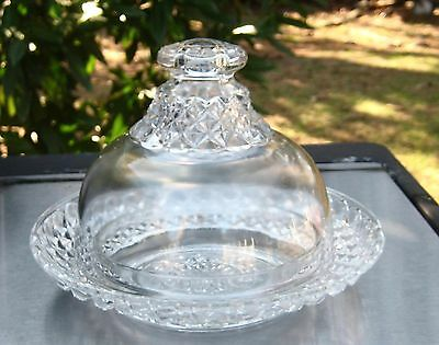 Covered Cheese Dish Butter Dish Pressed Glassware